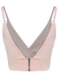 Online shopping for Khaki Slip V Neck Cami Top from a great selection of women's fashion clothing & more at MakeMeChic.COM.