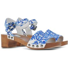 DOLCE GABBANA Sandals (€735) found on Polyvore featuring shoes, sandals, dolce gabbana shoes, dolce gabbana sandals and dolce&gabbana
