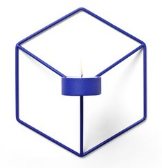 The Minimalist - Menu POV candle holder for wall in Cobalt Blue Wall Candle Holders, Burke Decor, Menu Design, Graphic Patterns, Tea Light Holder, Tea Lights, Minimalist, House Design, Candles