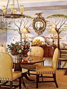 dining.....like the concave mirror and the ideal of a mural.