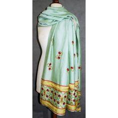 """Tuto Etole brodée """"Yamuna"""" : Un tutoriel de broderie traditionnelle à la main inspiré des motifs de décoration du Taj Mahal pour une étole de style Haute-Couture! Avec Talent Aiguille et les loisirs créatifs: le luxe à portée de main de toutes les brodeuses passionnées de mode!"""