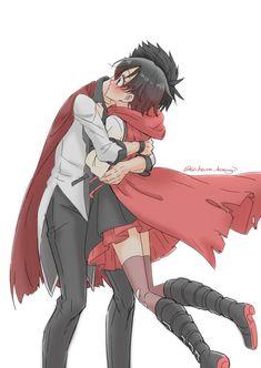 Someone give this man a hug Dc Anime, Rwby Anime, Rwby Fanart, Anime Comics, Kawaii Anime, Anime Art, Marvel Comics, Anime Kiss, Rwby Qrow