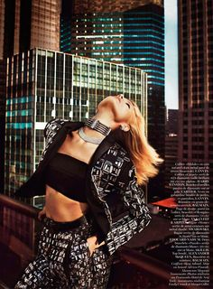 Magdalena Frackowiak Smolders In 'Graphique District' by Txema Yeste for Vogue Paris February2013 - 3 Sensual Fashion Editorials | Art Exhibits - Anne of Carversville Women's News