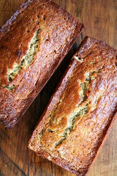 My favorite banana bread: a dear friend mother I played lacrosse with growing up brought this to every game. We all looked forward to it so much, and I think of her every time I make it. It's always a hit. Everyone always raves, adults and children alike. 13 Desserts, Plated Desserts, Dessert Recipes, Banana Bread Recipes, Banana Bread With Buttermilk, Banana Bread Recipe No Brown Sugar, Banana Bread Recipe Joy Of Baking, Banana Bread Recipe That Makes 2 Loaves, Large Batch Banana Bread Recipe