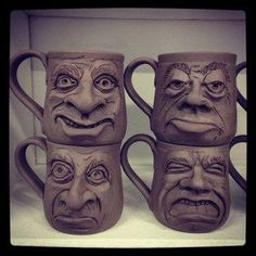 New Face Mugs (1-2) | Face jugs/cups | Pinterest | Face Mug, Mugs ...