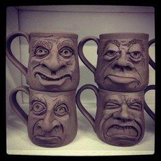 New Face Mugs (1-2) | Face jugs/cups | Pinterest | Face Mug, Mugs ...