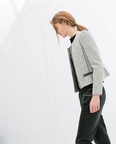 Image 3 of BLAZER WITH ZIP POCKETS from Zara