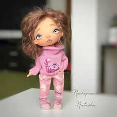 работа ещё не закончена , а куклу уже ждут дома. Радость и веселье в душе моей ! #процессы