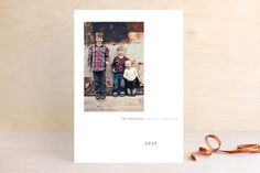 Chic Gallery Holiday Photo Cards by Precious Bugarin Design at minted.com