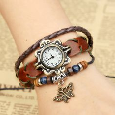 Butterfly Handmade Woven Bracelet Watch sold by Watch Me. Shop more products from Watch Me on Storenvy, the home of independent small businesses all over the world.