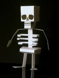 Build the Papercraft Skeleton for a Fun Halloween Activity #DIY #paperproducts trendhunter.com