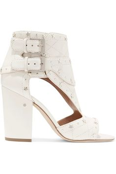 Laurence Dacade - Rush Studded Quilted Leather Sandals - Off-white - IT38.5