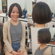 one-length traditional bob hairstyle