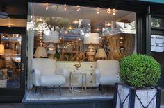 Window display glamour at #NYC #Mecox #interiordesign #MecoxGardens #furniture #shopping #home #decor #design #room #designidea #vintage #antiques #garden #NewYork