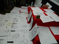 results from 150 participants sketches, sketches mayor of Makassar in Gallery DKM