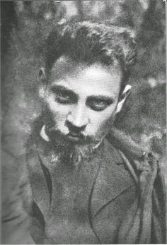 Rainer Maria Rilke in Worpswede um 1900.