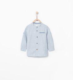 Overhemd met maokraag-Hemden-Baby jongen (3-36 maanden)-COLLECTIE AW15 | ZARA Nederland