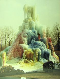 Veal's Ice Tree, early 1970's. Model, Janet Veal-Drummond.