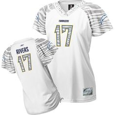 San Diego Chargers womens zebra field flirt fashion jersey. WANT!!!