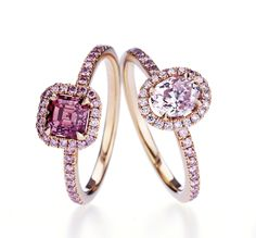 Rosamaria G Frangini | High Pink Jewellery | Fancy Pink Aura Rings