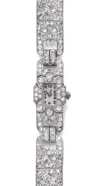 #DIAMOND LADY'S #WRISTWATCH, ca. 1930. (...)