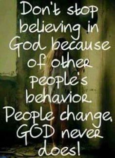 "Jesus Christ is Lord:""Don't stop believing in God because of other people's behavior."" quotes quotes about love quotes for teens quotes god quotes motivation Religious Quotes, Spiritual Quotes, Positive Quotes, Faith Quotes, Bible Quotes, Godly Quotes, Punchline Rap, Affirmations, Believe In God"