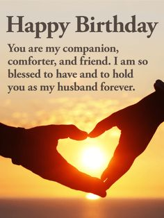 Birthday Image With Message For Husband  Birthday Cards For