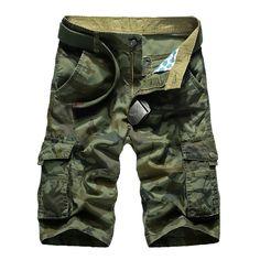 Camuflaje Camo Cargo Shorts hombres 2018 nuevos pantalones cortos casuales  para Hombre Pantalones cortos sueltos de trabajo para Hombre Pantalones  cortos ... 4b781d99f88a