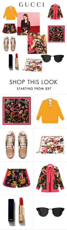 """Presenting the Gucci Garden Exclusive Collection: Contest Entry"" by ramdee ❤ liked on Polyvore featuring Gucci, Chanel, Ace and gucci"