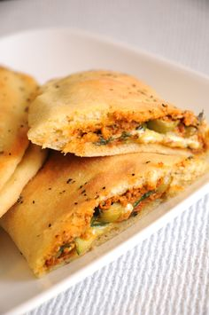 Homemade Vegan calzones with Sun-dried tomato pesto spread