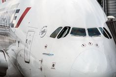 Air France Airbus A380 at the gate