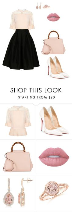 """""""Untitled #38"""" by phff-tumblr on Polyvore featuring moda, Tanya Taylor, Christian Louboutin, Gucci, Lime Crime e Fashionomics"""