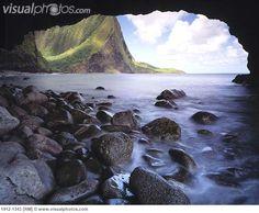 Keanapuka Sea Arch Hakaaano Island of Molokai Hawaii
