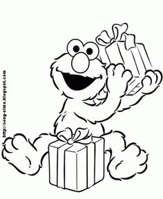 Happy Birthday Coloring Pages Elmo And Friends - Birthday Coloring ...