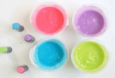 Let's Paint! How to Make Your Own Edible Finger Paints!...Love this for little kids! Don't have to worry about yelling at them for putting their hands in their mouths.
