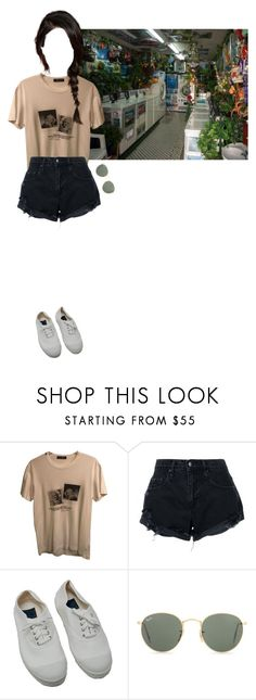 """sunday morning"" by oogenfly ❤ liked on Polyvore featuring Dolce&Gabbana, Nobody Denim, Bensimon and Ray-Ban"