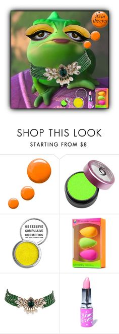"""""""Pascal Close Up 💛"""" by sweetdreamer24 ❤ liked on Polyvore featuring beauty, Topshop, Obsessive Compulsive Cosmetics, beautyblender, Shourouk, Lime Crime, Beauty, disney, tangled and pascal"""