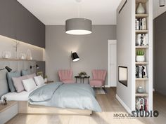SZARA SYPIALNIA Home Design Decor, Home Room Design, Interior Design Inspiration, House Design, Home Decor, Modern Farmhouse Bedroom, Ideas Hogar, Headboards For Beds, Beautiful Bedrooms