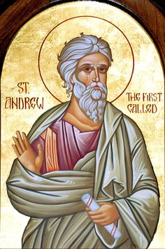 Andrew the Apostle also known as Saint Andrew and called in the Orthodox… Byzantine Icons, Byzantine Art, Catholic Saints, Patron Saints, Religious Icons, Religious Art, Andrew The Apostle, Orthodox Christianity, St Andrews