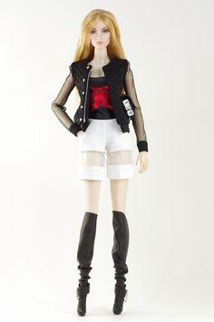 (FR2 body) inc. jacket, top, shorts, boots, purse.