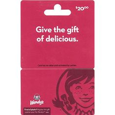 Wendy's Gift Card         *** Read more at the image link. (This is an affiliate link) #GiftCards