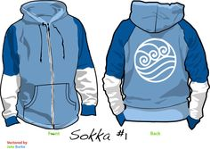 Sokka Water Tribe Hoodie by cyphris09.deviantart.com on @deviantART