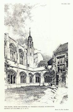 Bertram Goodhue.  Pen & Ink Rendering