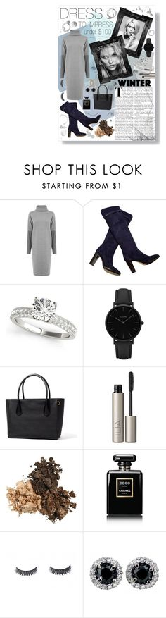 """Winter Dress under $100"" by madisonpiazza ❤ liked on Polyvore featuring Warehouse, Loro Piana, CLUSE, Ilia and Chanel"