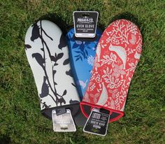Not your Grandmother's oven gloves - funky new designer oven gloves that are great at withstanding heat