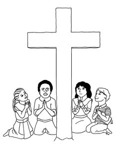 cross coloring pages  Bible Coloring Pages  Bible All Free