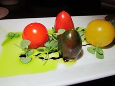 Heirloom Tomatoes filled with Stracchino Cheese