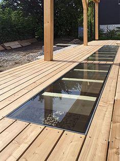 Spa Design, Garden Design, Metal Deck Railing, Bay Window Living Room, Garage To Living Space, Balcony Flooring, Bedroom Balcony, Kitchen Lamps, Cabana