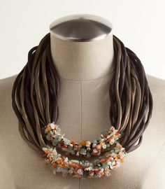 Silk & Semi-precious Stones Necklace, Necklaces, Jewelry, Home - The Museum Shop of The Art Institute of Chicago