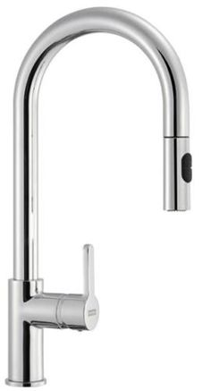FRANKE ARENA PULL-OUT SPRAY TAP - SILK STEEL